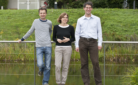 ERC Grants for three Tübingen Max Planck scientists (from left): Michael Hothorn, Fulvia Bono and Wolfram Antonin. Photo: Gertrud Scheer/MPI for Developmental Biology