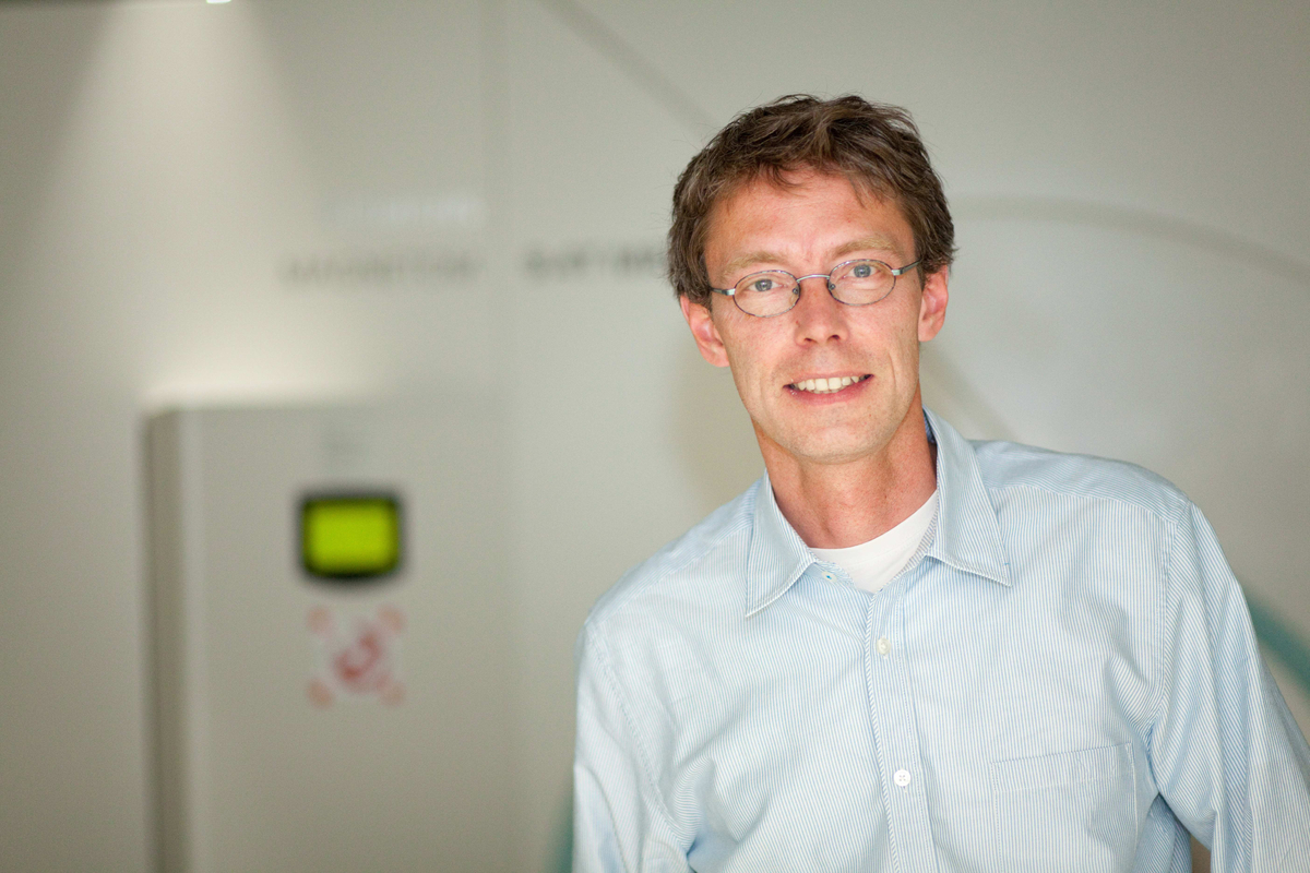 Prof. Dr. Klaus Scheffler, head of the Department of High-field Magnetic Resonance at the Max Planck Institute for Biological Cybernetics and director of the Department of Biomedical Magnetic Resonance at the University of Tübingen