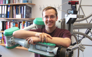 Oliver Kroemer, PhD Student at the Max Planck Institute for Biological Cybernetics. Photo: Max Planck Institute for Biological Cybernetics, Tübingen.