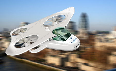 An envisioned Personal Aerial Vehicle. Graphic: Gareth Padfield, Flight Stability and Control