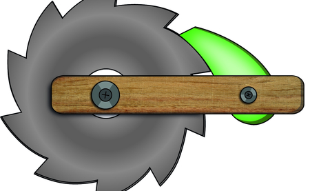 How a ratchet works: The gear wheel can only rotate anti-clockwise -- rotation in clockwise direction is blocked. Illustration: MPI for Developmental Biology